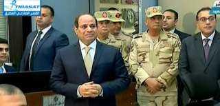 السيسي يتفقد أنفاق 3 يوليو وغرفة التحكم الرئيسية جنوب بورسعيد ..فيديو