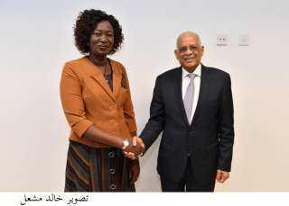رئيس مجلس النواب يلتقى وزيرة الخارجية والتعاون الدولى فى جنوب السودان