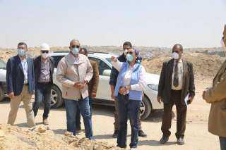 صور..وزيرة البيئة فى زيارة تفقدية لمدفن العبور وتتابع السيطرة على عدد من الاشتعالات به