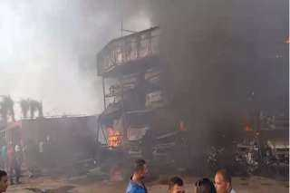 حريق ضخم في منطقة صفط اللبن..فيديو