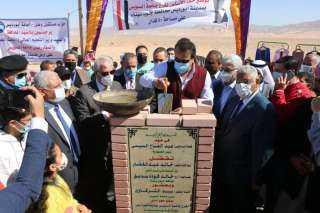 وزير التعليم العالي يضع حجر الأساس لفرع جامعة السويس في جنوب سيناء (صور)