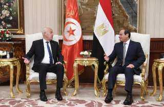 الرئيس السيسي ونظيره التونسي يتوافقان على ضرورة تكثيف التنسيق المشترك بشأن القضية الليبية