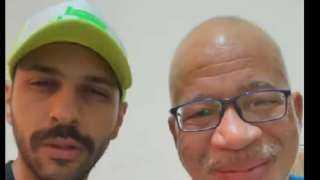 شاهد..شريف دسوقي وحسن أبوالروس في فيديو كوميدي من داخل المستشفى