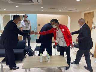 وزير الرياضة يلتقي رئيس اللجنة الأولمبية اليابانية خلال حضوره منافسات دورة الألعاب الأولمبية