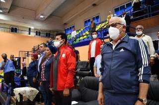 وزير الرياضة ومحافظ بورسعيد يشهدان فعاليات اللقاء المجمع للمشروع القومي لرياضة المرأة والرواد